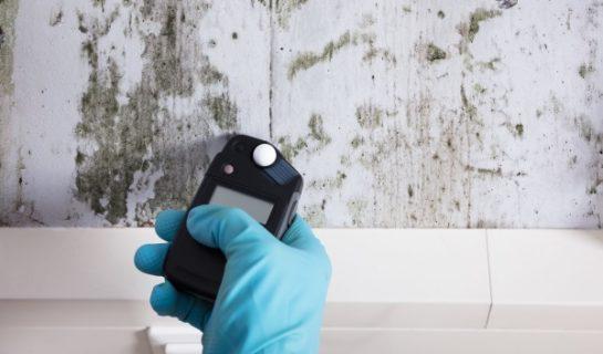 Luftfeuchtigkeit wird an Wand gemessen