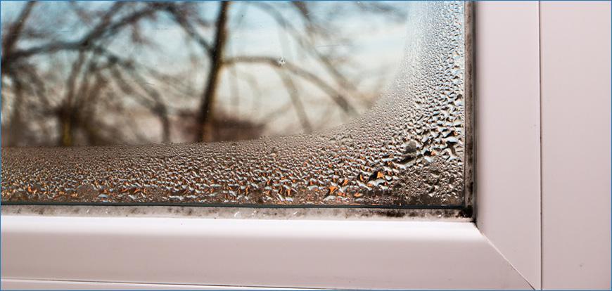 feuchtigkeit an den Fenstern