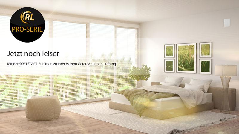 Dezentrale Wohnraumlüftung mit Wärmerückgewinnung und W-Lan Smarhome