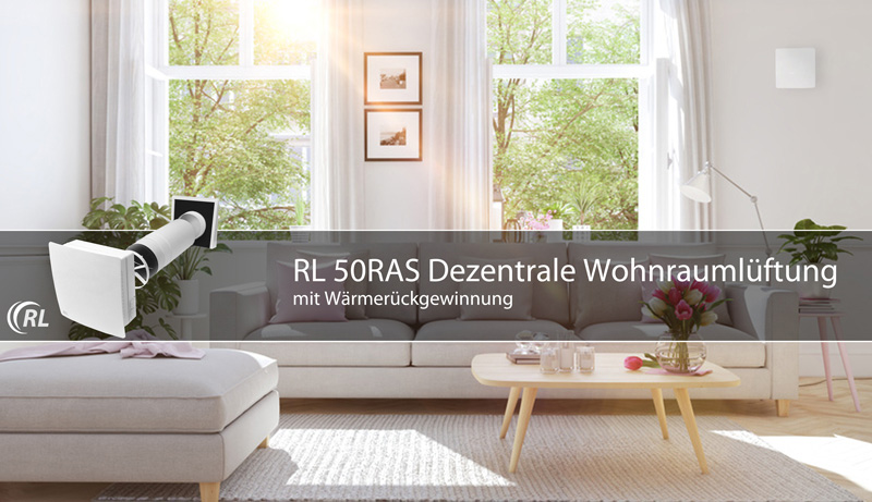 rl 50ras dezentrale wohnrauml ftung mit w rmer ckgewinnung. Black Bedroom Furniture Sets. Home Design Ideas