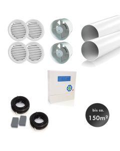 RL Kellerentfeuchtungsset ohne Wärmerückgewinnung bis 150 m² – ideal zur Entfeuchtung und Belüftung ungeheizter Lagerräume