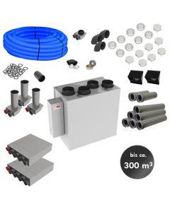 RL300ZA – zentrale Lüftungsanlage mit Wärmerückgewinnung (Komplett-Montage-Set für bis zu 300m²)
