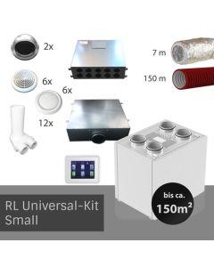 RL Zentrale Lüftungsanlage mit Wärmerückgewinnung - Universalkit Small ( bis 150 m²   bis zu 6 Räume)